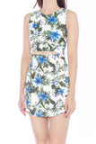 Carme Cut-Out Fitted Dress (White)