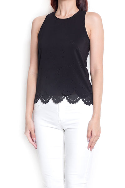 Lylla Lasercut Top (Black)