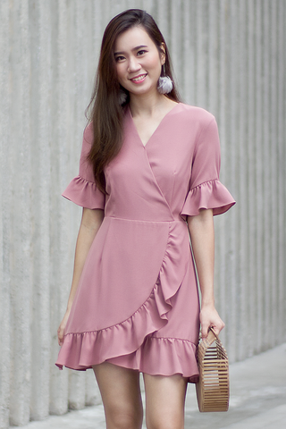 Malley Frill Dress (Rose)