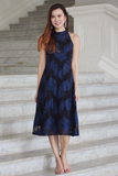 Valline Lace Midi Dress (Midnight)