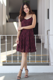Brendi Lace Dress (Merlot)