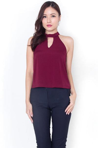 Danel Collar Halter Top (Red)