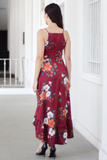 Charie Floral Maxi Dress (Red)