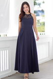 Ceralle Lace Maxi Dress (Navy)