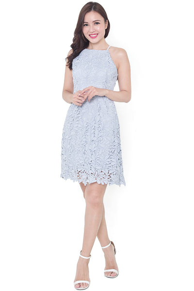 Verone Crochet Dress (Powder Blue)