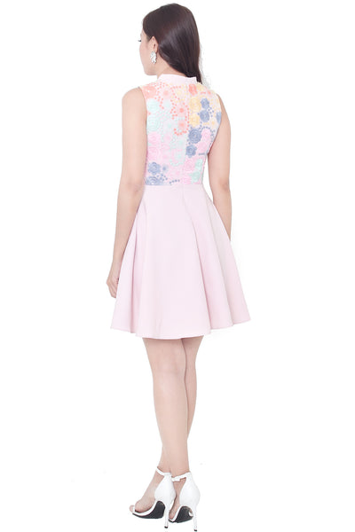 Rei Embroidery Dress (Pink)