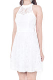 Keishe Lace Sweetheart Dress (White)