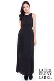 Alridge Pleat Maxi Dress (Black)