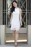 Halie Crochet Dress (White)