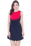 Ellin Colorblock Dress (Navy)