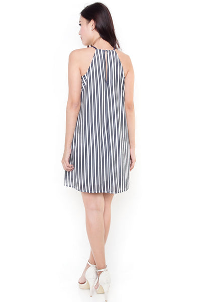 Trelis Emboss Stripe Dress
