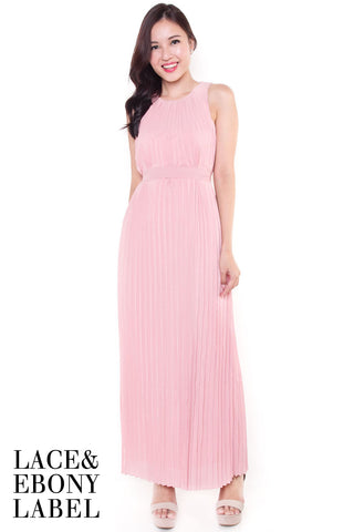 Alridge Pleat Maxi Dress (French Pink)