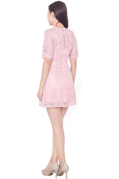 Felicity Lace Dress (Pink)