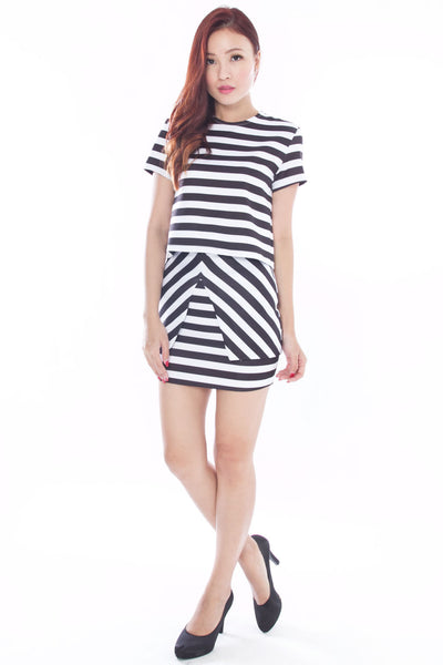 Emeryl Striped Skirt