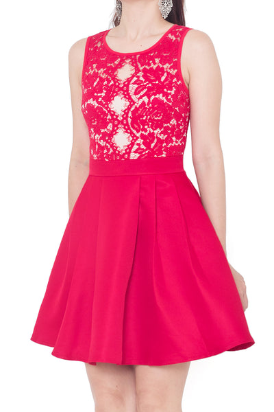 Trisa Lace Dress (Red)