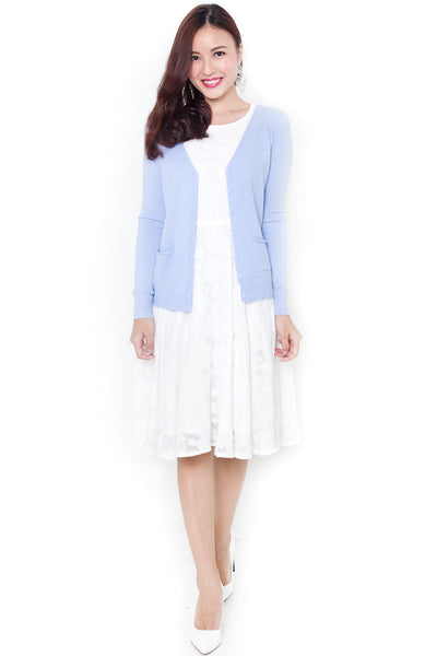 Balley Knit Cardigan (Powder Blue)
