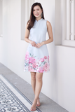 Princes Oriental Floral Dress (Blue)
