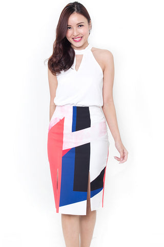Heretta Slit Pencil Skirt
