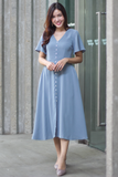 Arlean Midi Dress (Seafoam Blue)