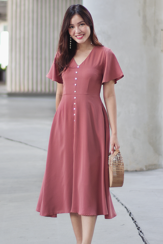 Arlean Midi Dress (Rose)