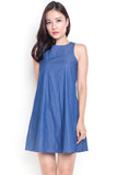 Harriatt Denim Tank Dress (Dark) (Restock)