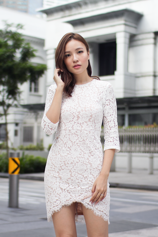 Mellerin Lace Dress (White)