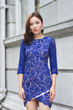 Mellerin Lace Dress (Cobalt)