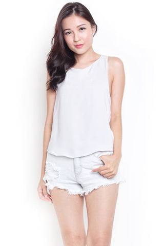 Bale Criss Cross Top (Slate Grey)