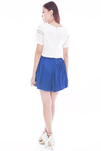 Katelye Pleated Skorts (Cobalt)