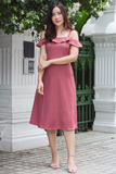 Kaycee Flutter Dress (Rose)