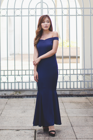 Oliveria Mermaid Dress (Navy)
