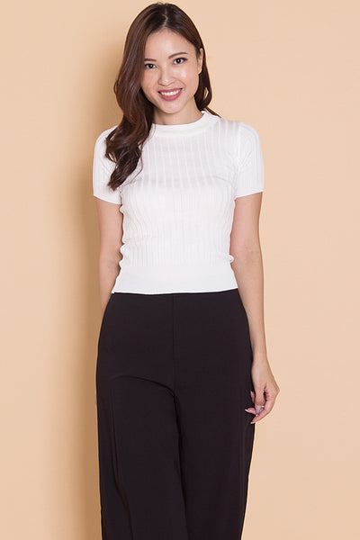 Camdelle Knit Top (White)
