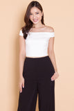 Faithe Off-Shoulder Top (White)