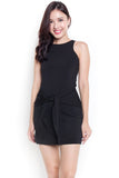 Sashlyn Tie Dress (Black)