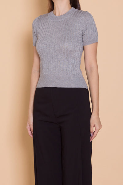 Camdelle Knit Top (Grey)