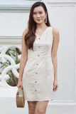 Kalliste Linen Dress (Almond)