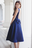 Sallie Bow-Back Dress (Navy)