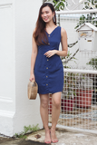 Kalliste Linen Dress (Denim Blue)