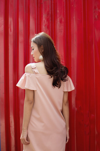 Odette Off-Shoulder Dress (Pink)