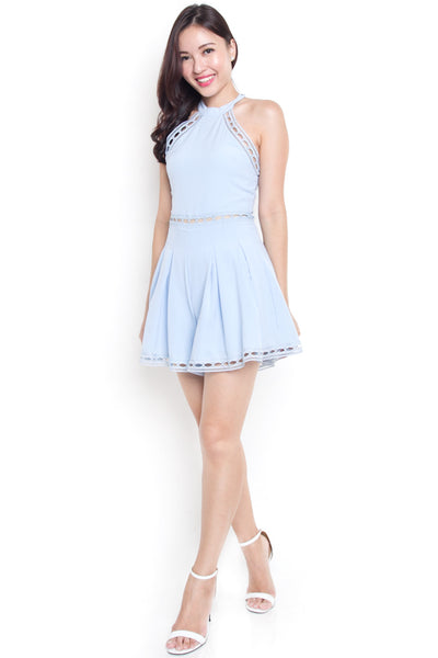 Cabrille Crochet Romper (Powder Blue)