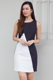 Darralle Colourblock Dress (Black)