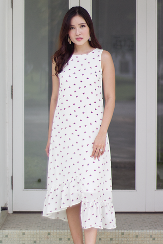 Frances Floral Dress (White)