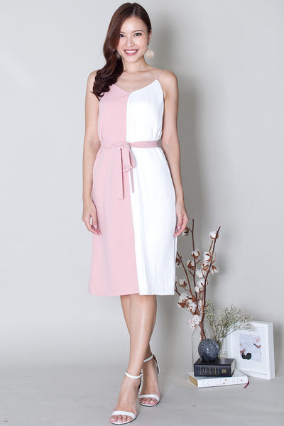 Faeth Pleat Contrast Dress