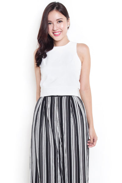 Erine Crop Tie-Back Top (White)