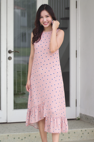 Frances Floral Dress (Blush)