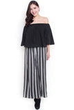 Grindel Off-Shoulder Top (Black)
