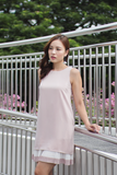 Maisy Pleat Hem Dress (Pink)