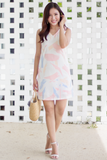 Clariss Abstract Dress (White)