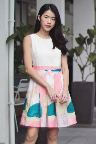 Vandetta Abstract Dress (Pink)