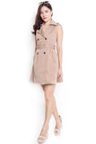 Garette Trench Dress (Khaki)